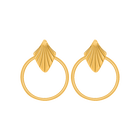 Amulette Earrings, Gold finish image number 1