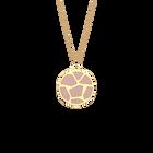 Collier Girafe, Finition dorée, Bleu Outremer / Rose Sirène image number 2