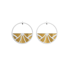 Papyrus Hoop Earrings, Silver finish, Hypnosis / Gold image number 2