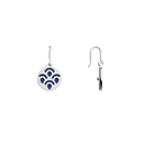 Poisson Sleeper Earrings, Silver finish, Sun / Navy Blue image number 4