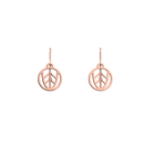 Faucon Sleeper 16 mm Earrings, Rose gold finish image number 1