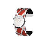 Divine Watch, Silver finish, Black Glitter / Red image number 2