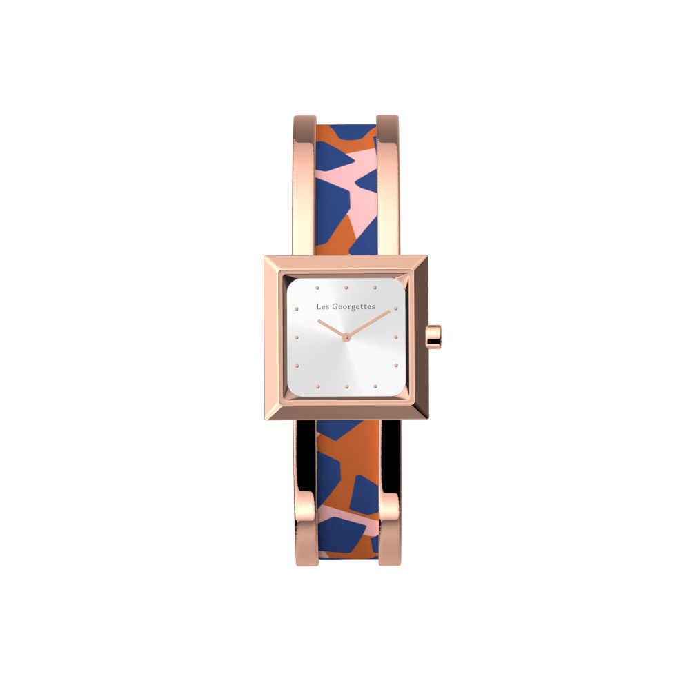 Structure Watch, Rose Gold finish, Giraffe / Patent Blue image number 3