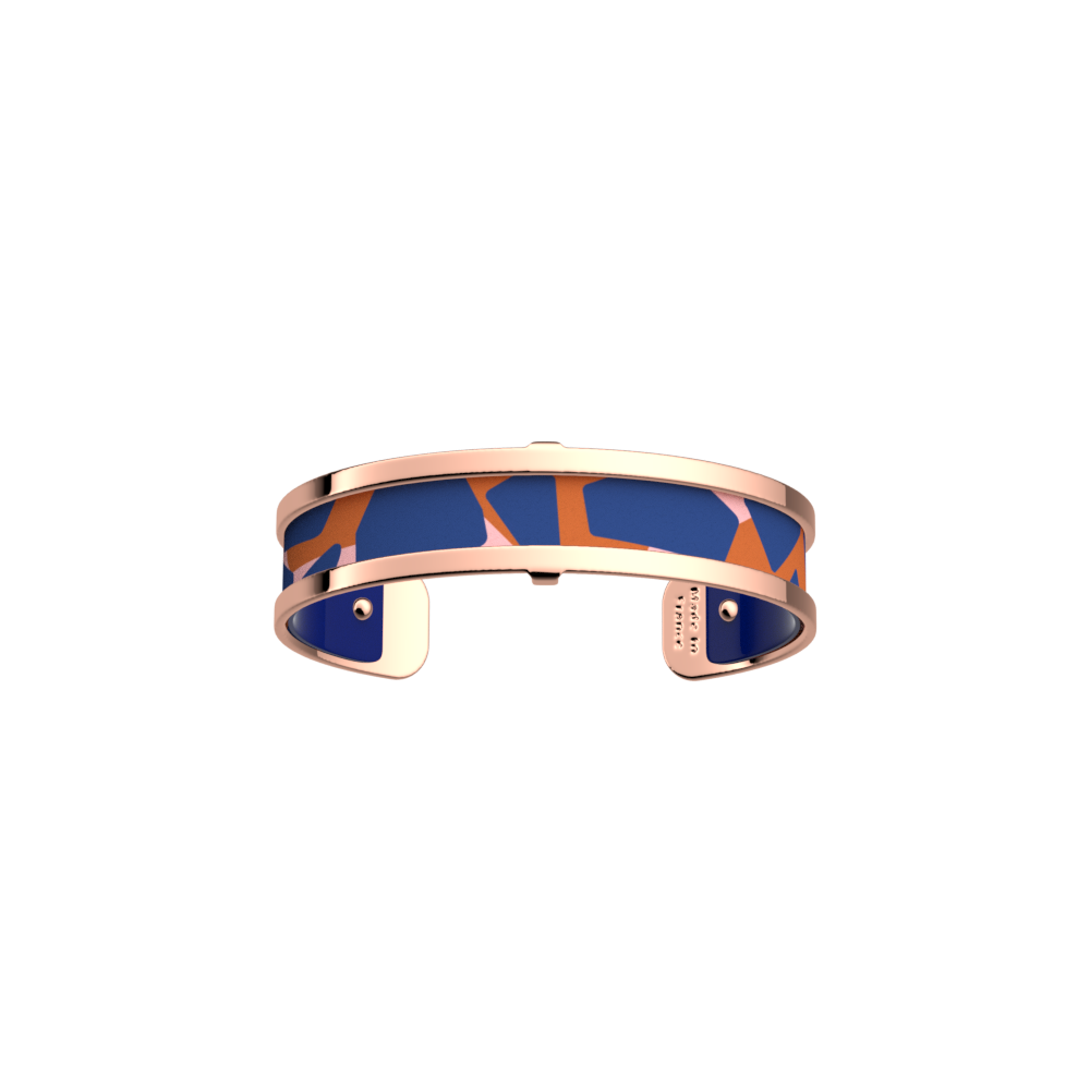 Pure Bracelet, Rose gold finish, Giraffe / Patent Blue image number 1