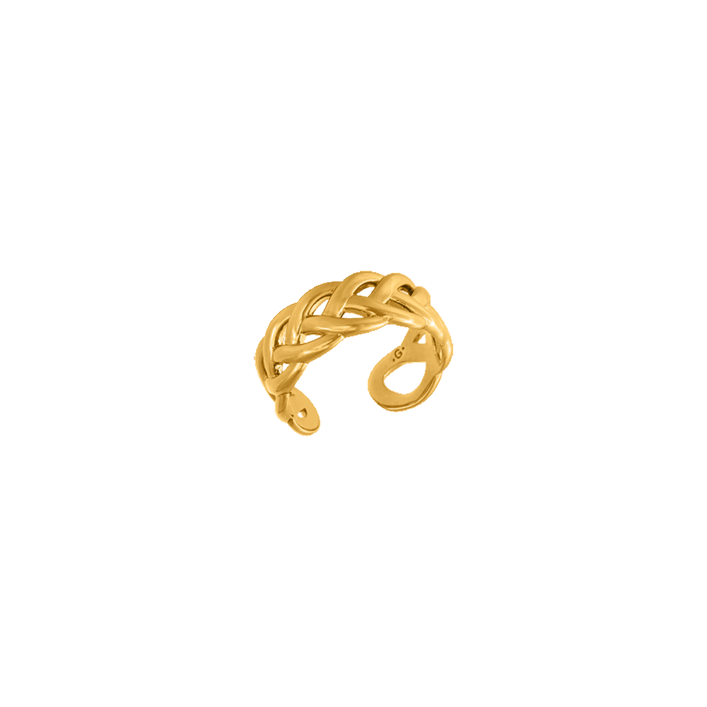 Grande Tresse Ring, Gold finish image number 1