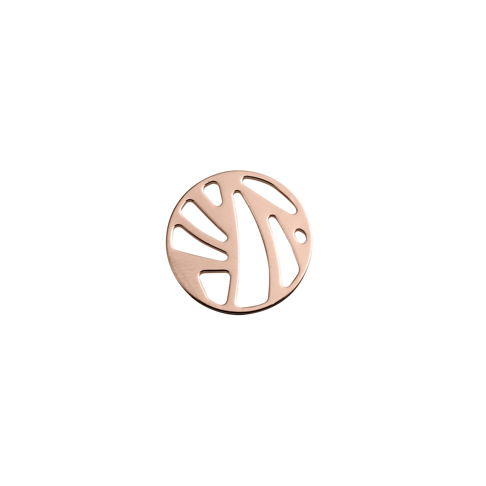 Perroquet token Round 16 mm, Rose gold finish image number 1
