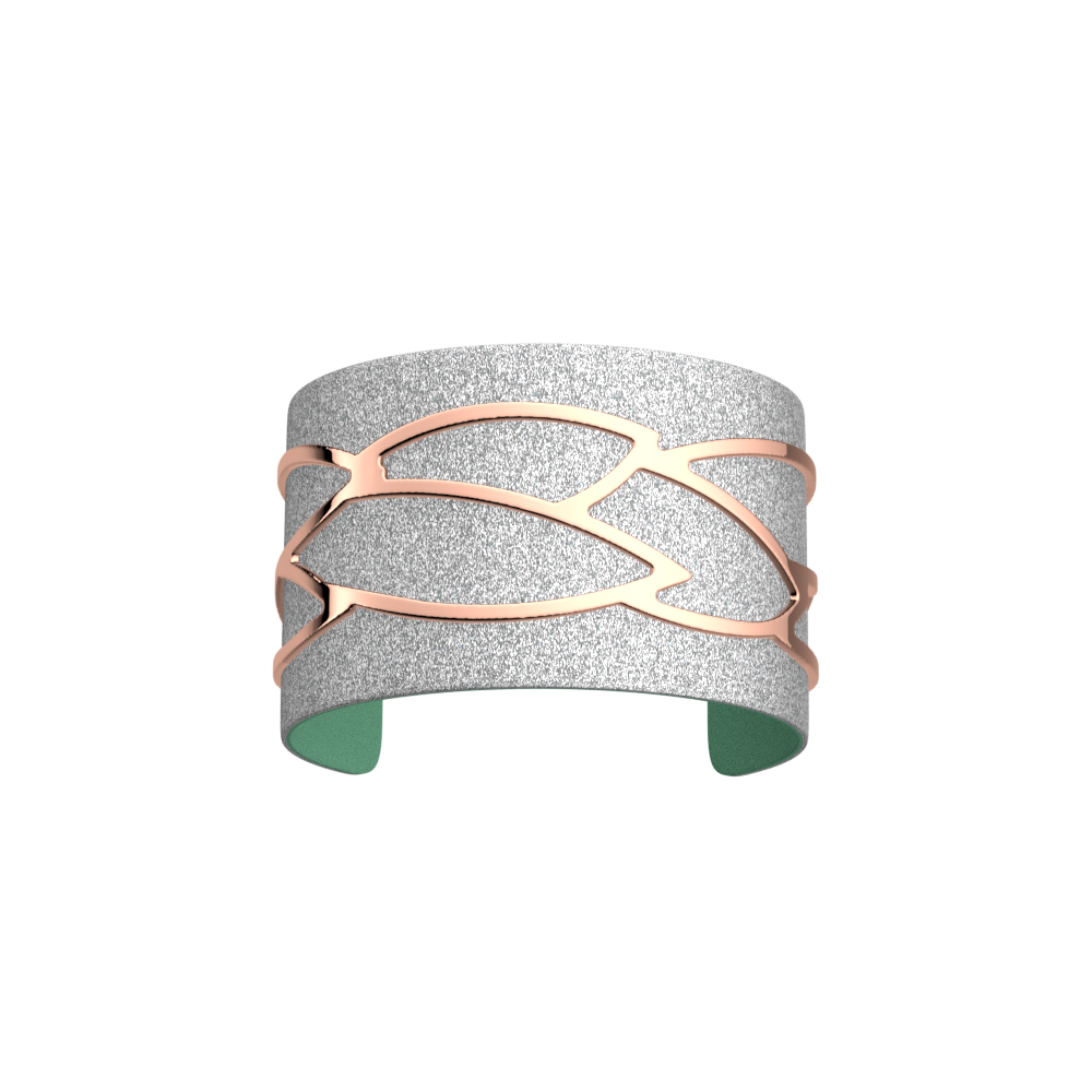Plumage Bracelet, Rose gold finish, Aqua / Silver Glitter image number 2