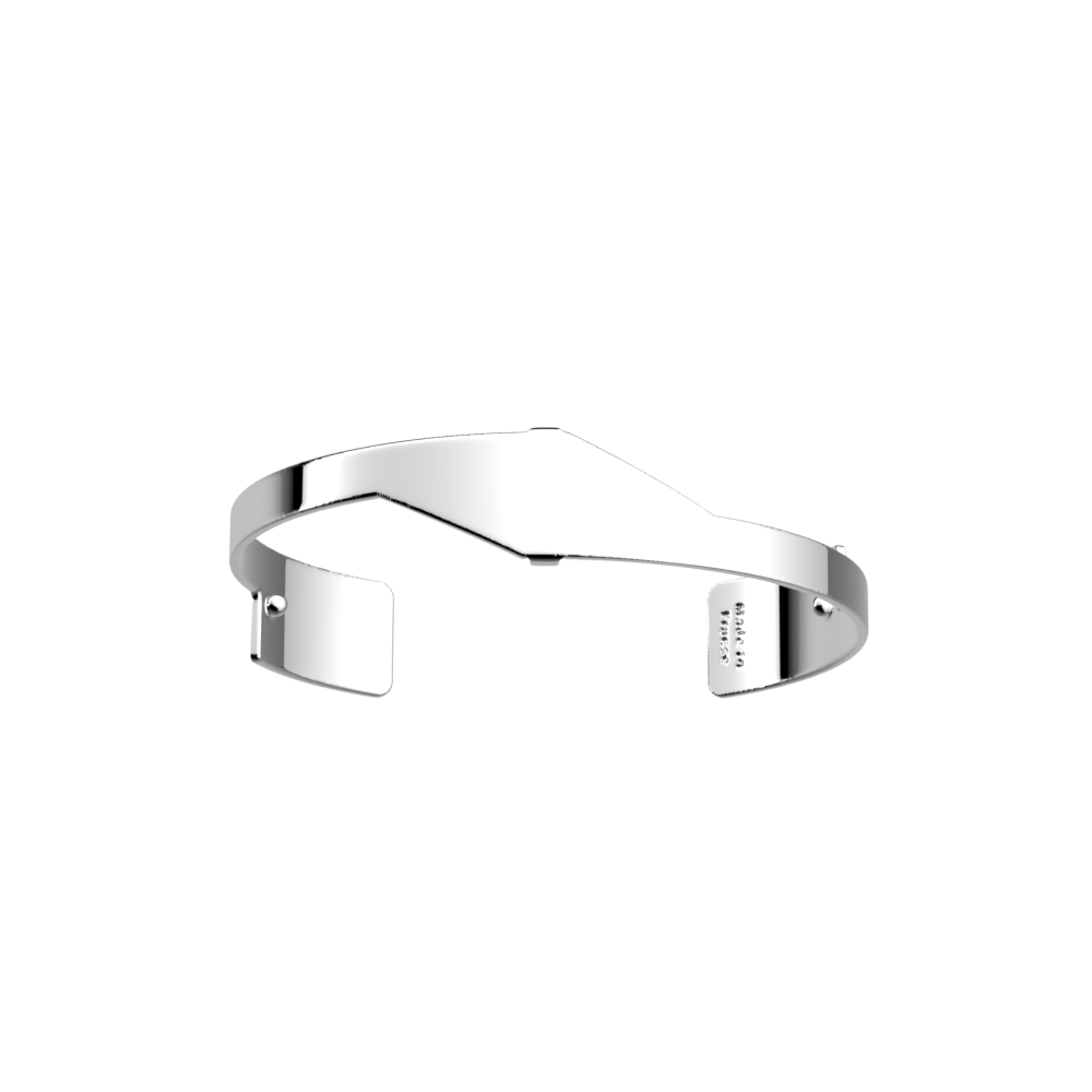 Bracelet Asymetrie 14 mm, Finition argentée image number 1