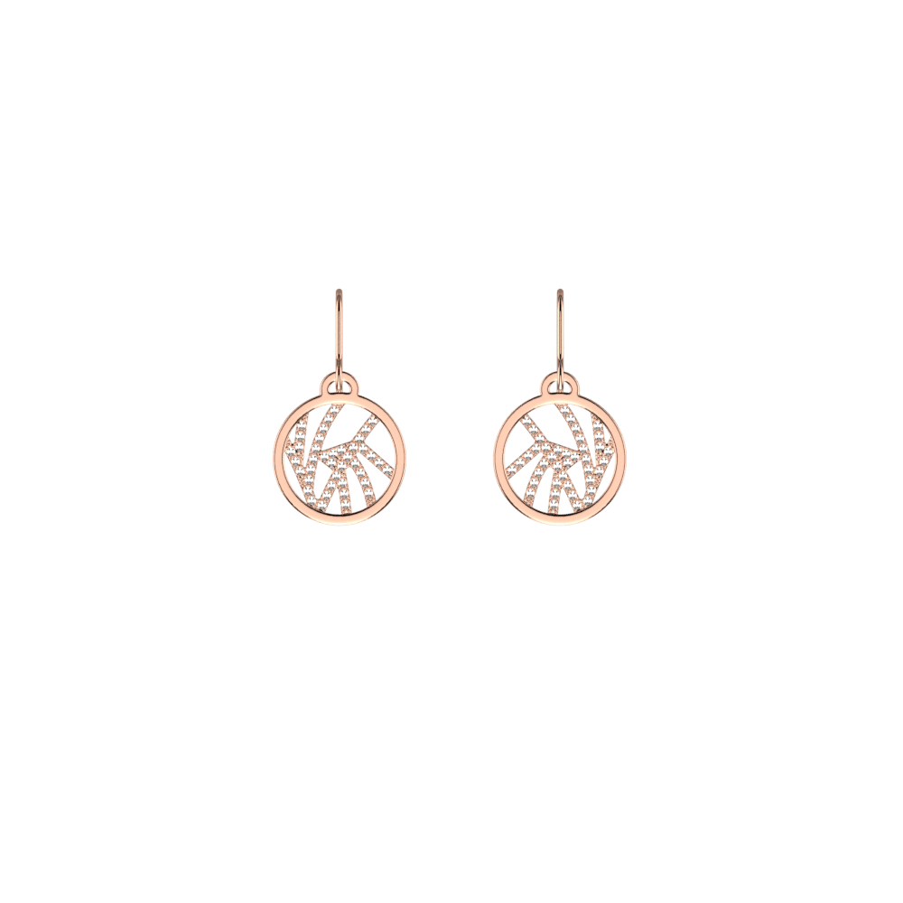 Perroquet Sleeper 16 mm Earrings, Rose gold finish | LG EUROPE