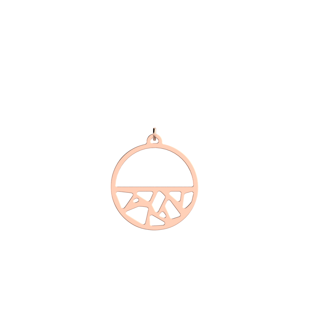 Girafe Pendant round 30 mm, Rose gold finish image number 1