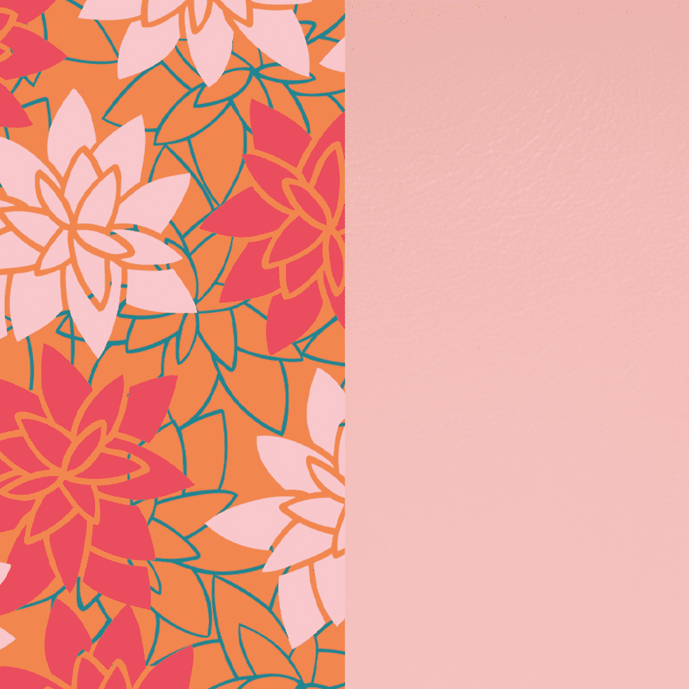 Patterned leather, Water Lily / Light Pink image number 1