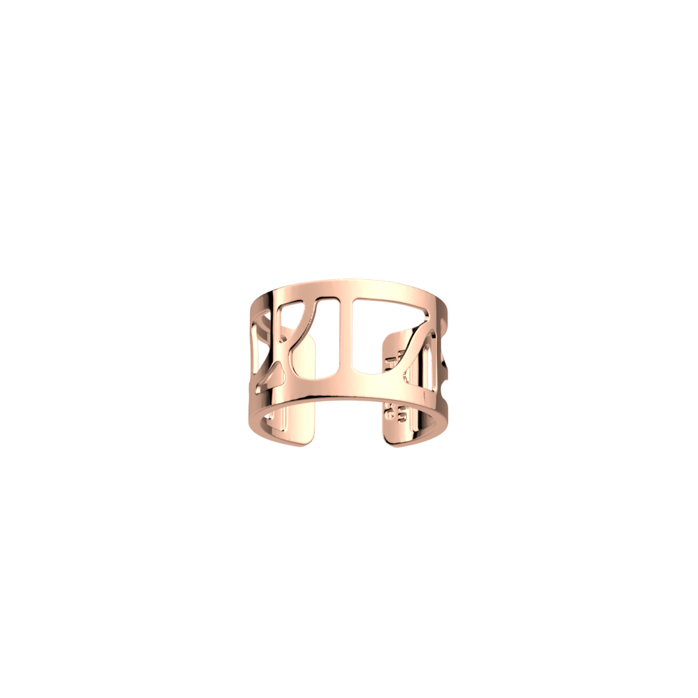 Volute ring 12 mm, Rose gold finish image number 1