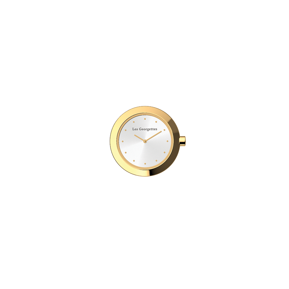 Watch case Absolue round, Gold finish image number 1