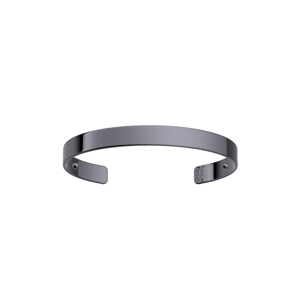 Bracelet Bandeau 14 mm, Finition ruthénium image number 1