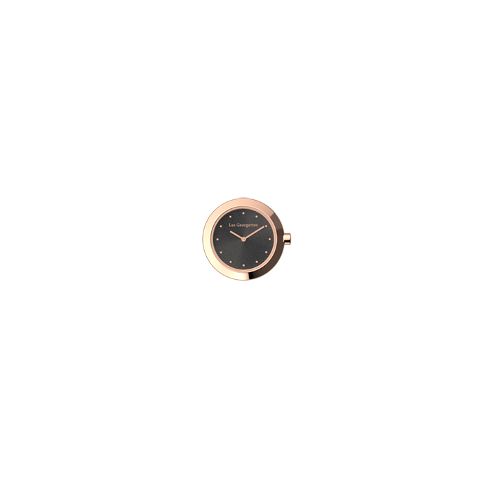 Watch case Absolue round, Rose gold finish image number 1