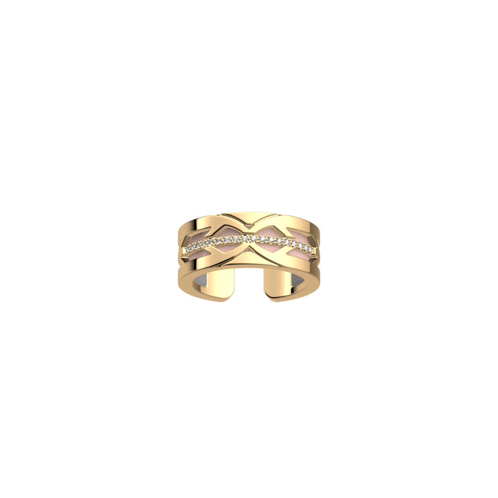 Faucon Ring, Gold finish, Light Pink / Light Grey image number 1