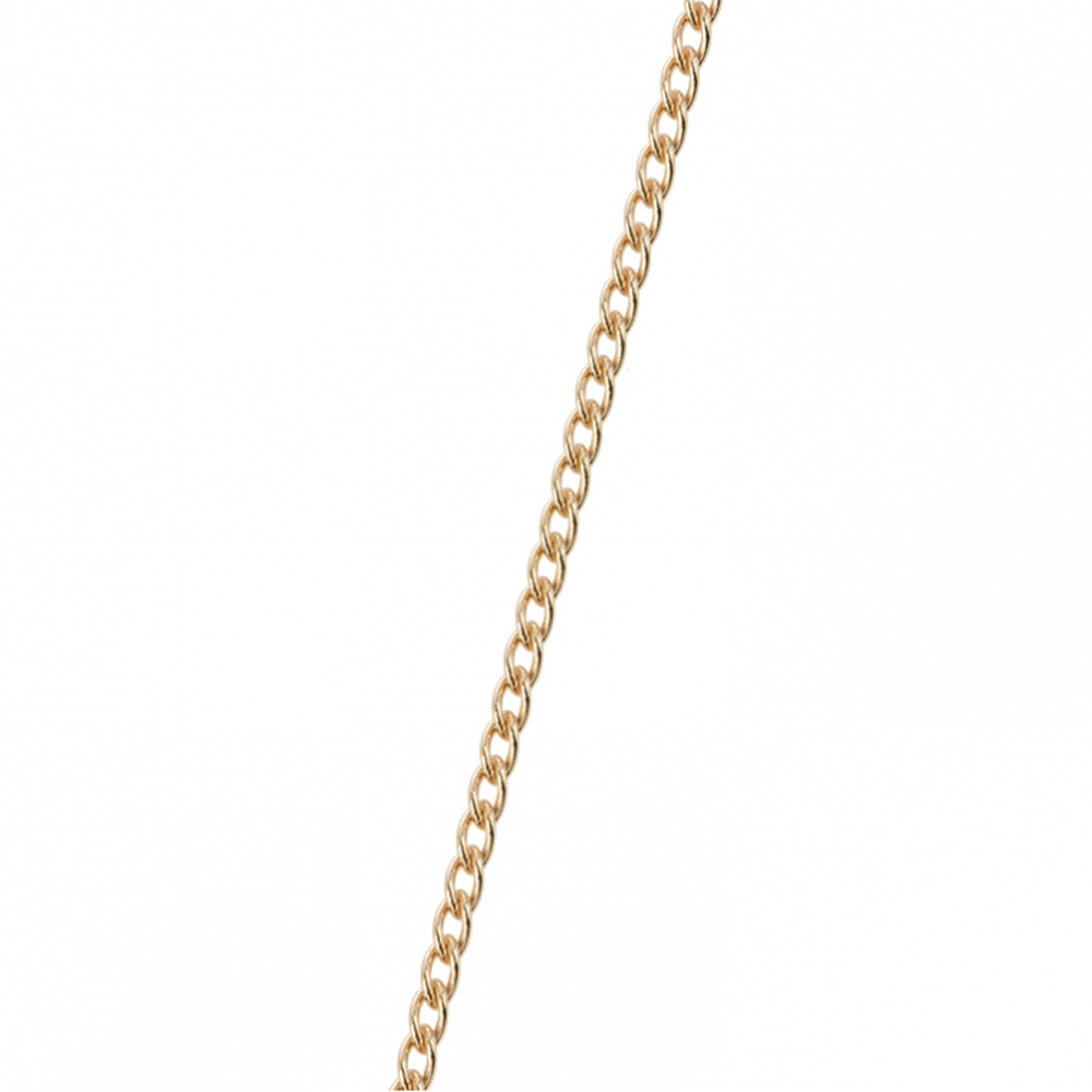 Gourmette chain, Gold finish image number 1