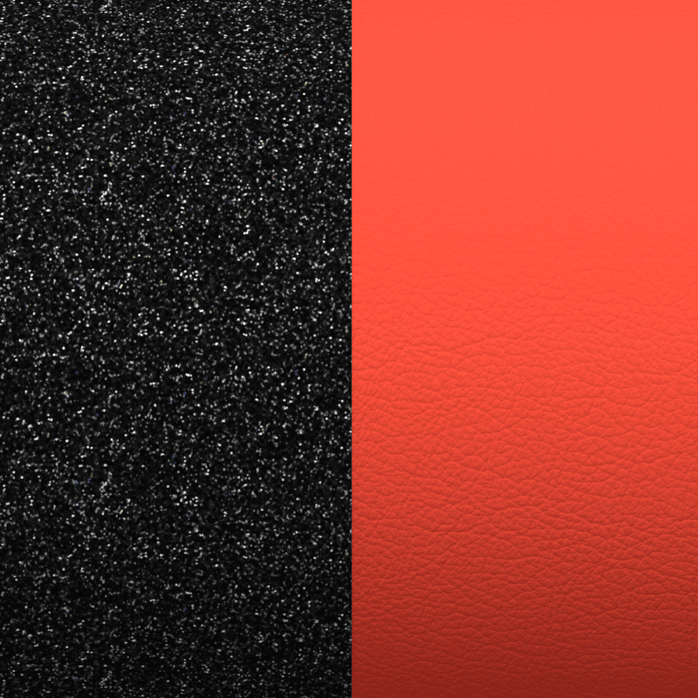 Leather insert, Black Glitter / Red image number 1