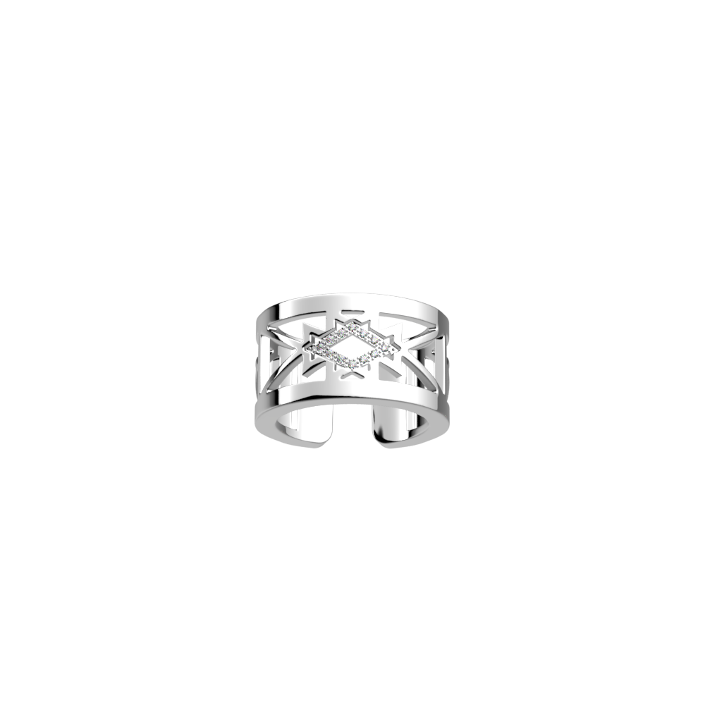 Sioux ring 12 mm, Silver finish image number 1