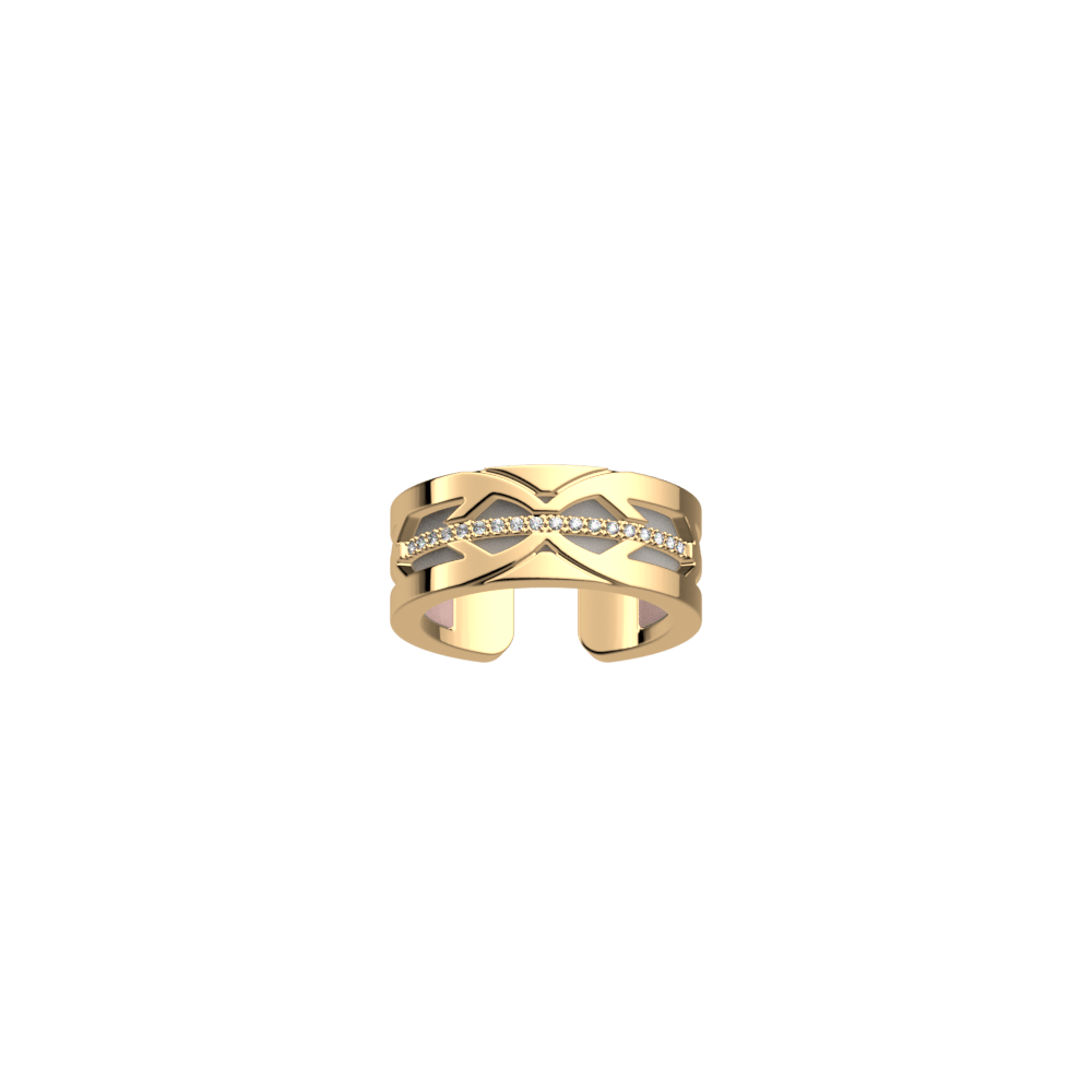 Faucon Ring, Gold finish, Light Pink / Light Grey image number 2