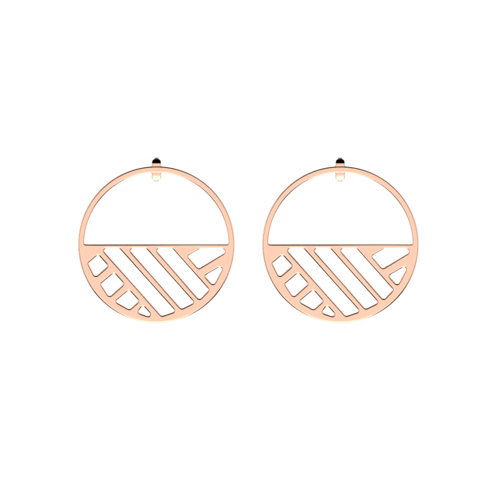 Ruban Hoop 43 mm Earrings, Rose gold finish image number 1