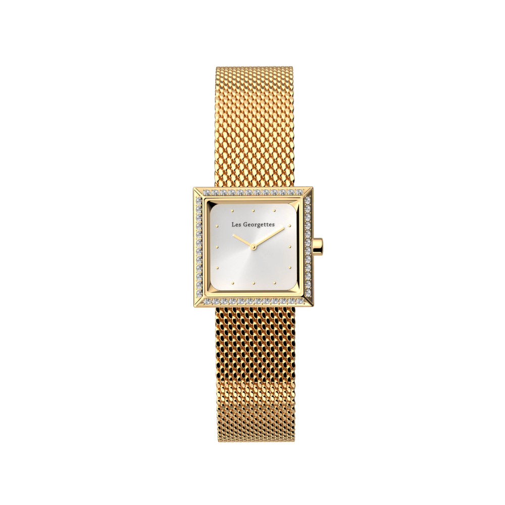 Milanese Mesh Watch, Gold Finishes image number 2