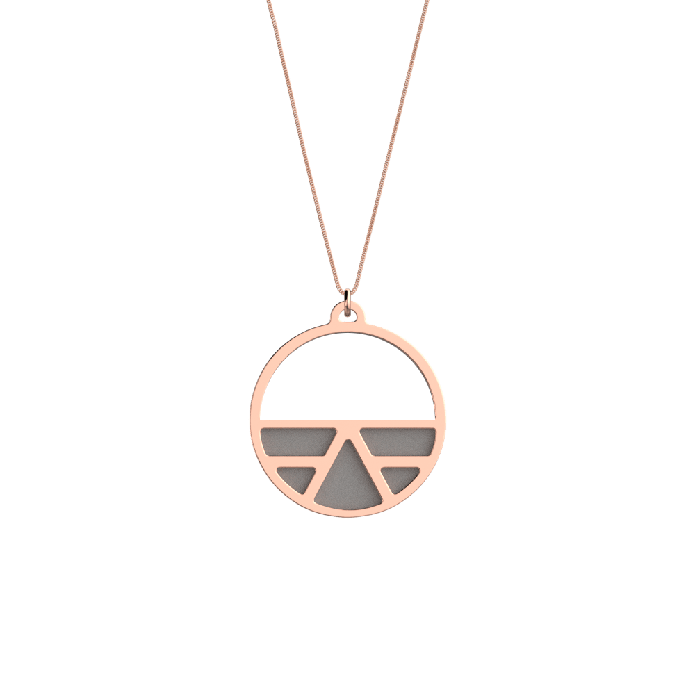 Collier Ibiza, Finition dorée rose , Rose Clair / Gris Clair image number 2