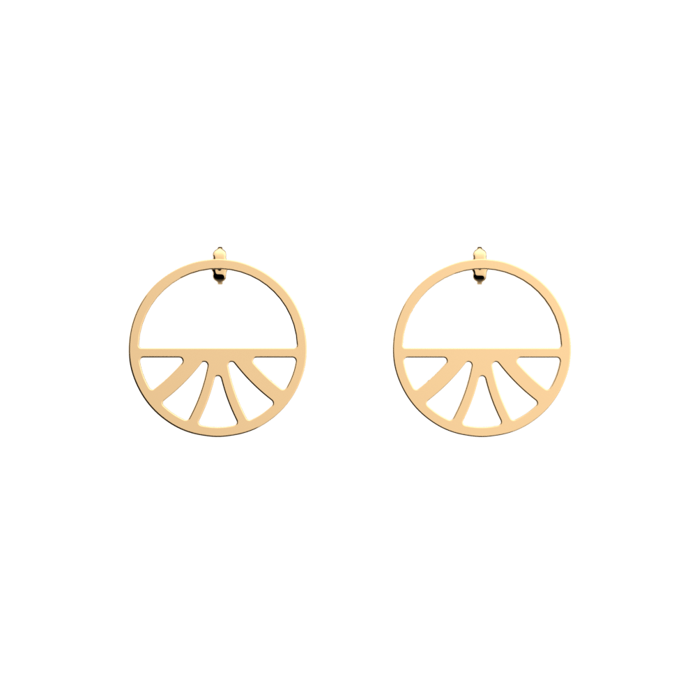 Papyrus Hoop 30 mm Earrings, Gold finish image number 1