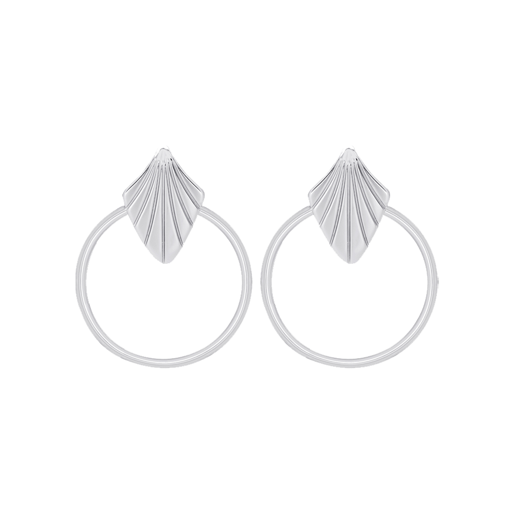 Amulette Earrings, Silver finish image number 1