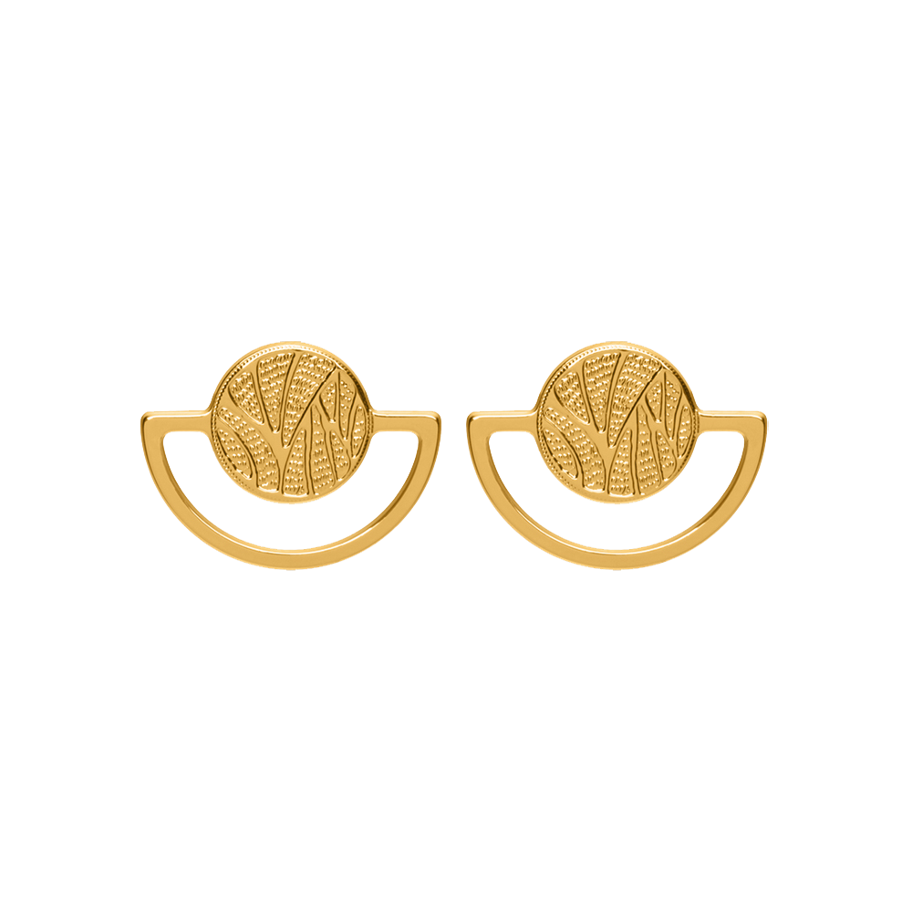 Perroquet Earrings, Gold finish image number 1