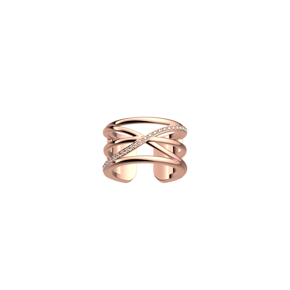 Louxor ring 12 mm, Rose gold finish image number 1