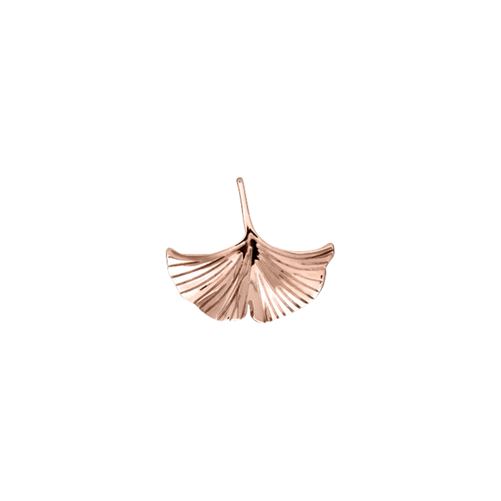 Gingko Pins, Rose Gold finish image number 1