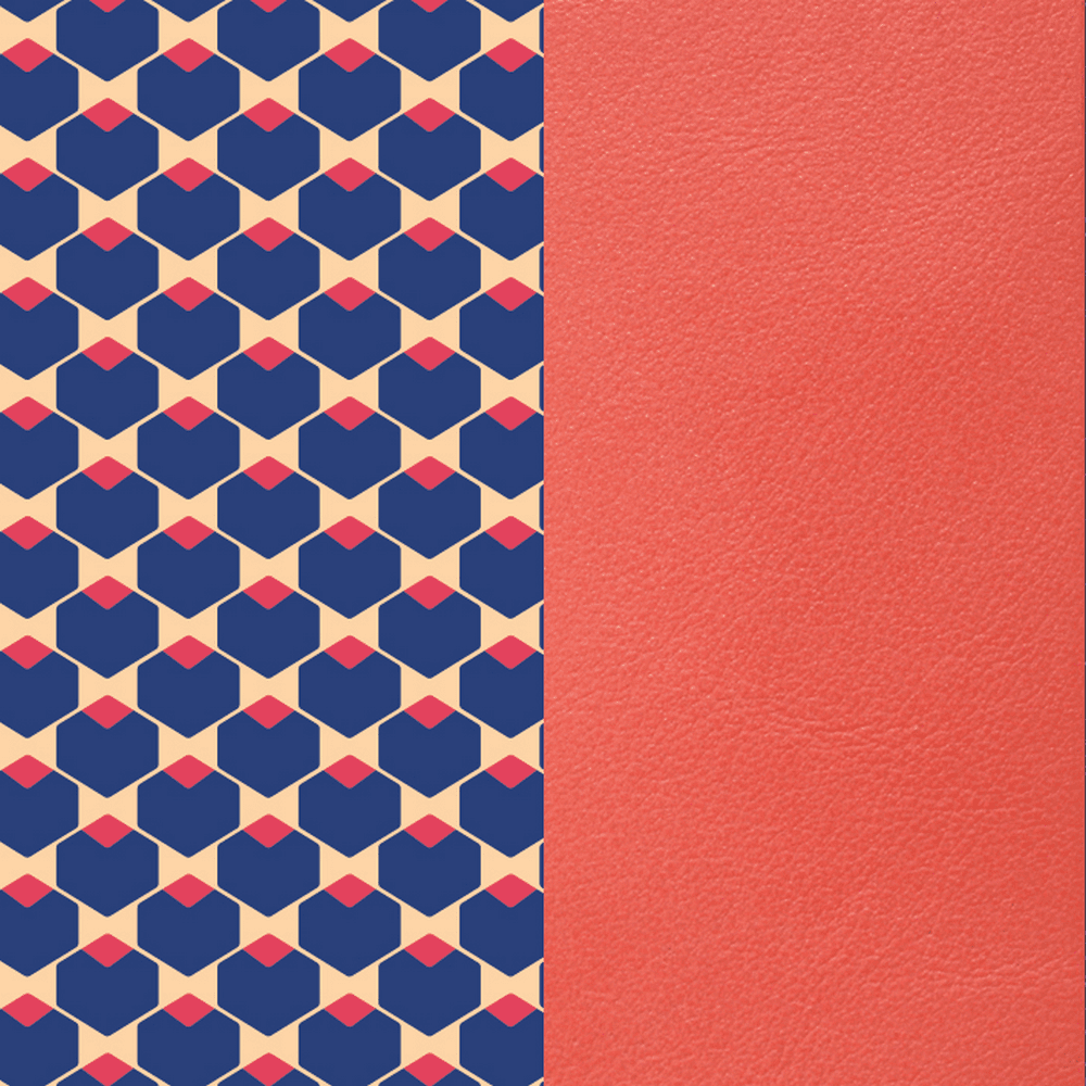 Patterned leather, Cubic / Coral image number 1