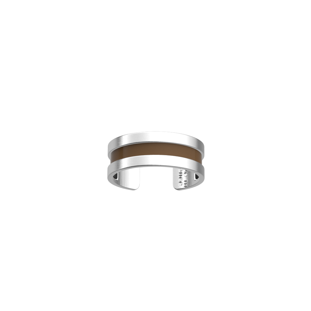 Double Ring, Matte Silver finish, Pebble Black / Espresso image number 2