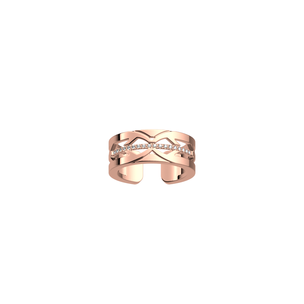 Faucon ring 8 mm, Rose gold finish image number 1
