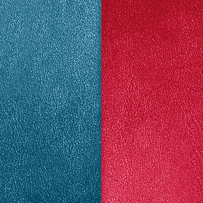 Leather insert for Les Essentielles Belt, Petrol Blue / Raspberry image number 1