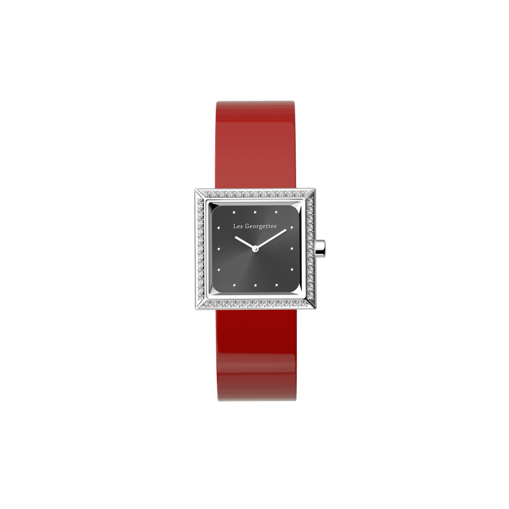 Patent Red / Black Watch, Silver Finishes image number 3