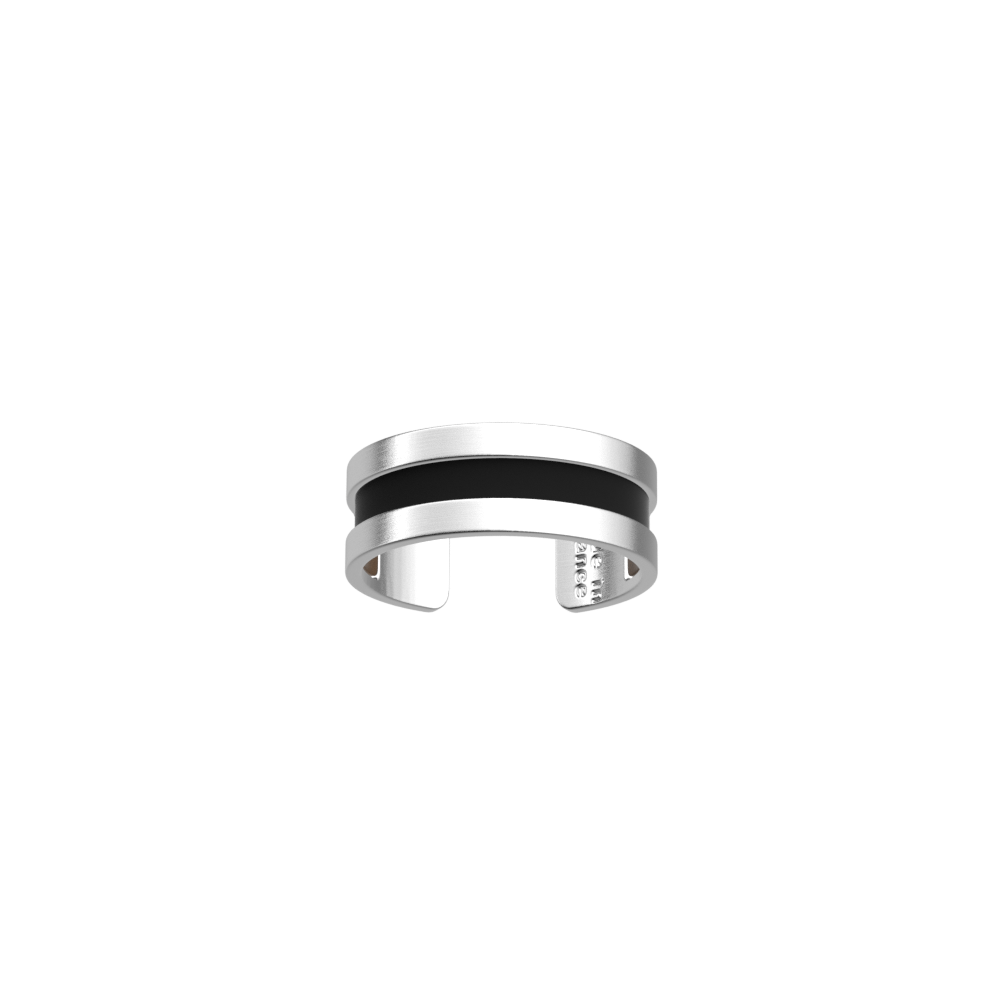 Double Ring, Matte Silver finish, Pebble Black / Espresso image number 1
