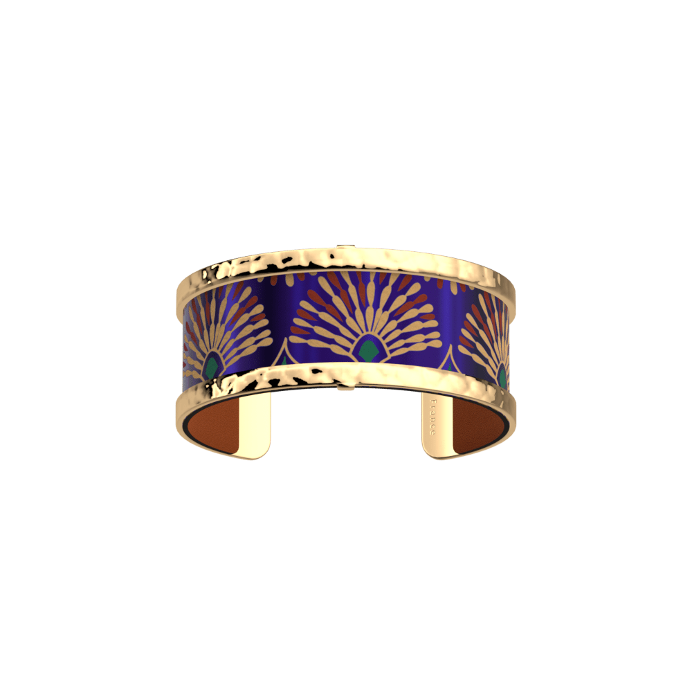 Pure Martelée Bracelet, Gold finish, Peacock / Cognac image number 1