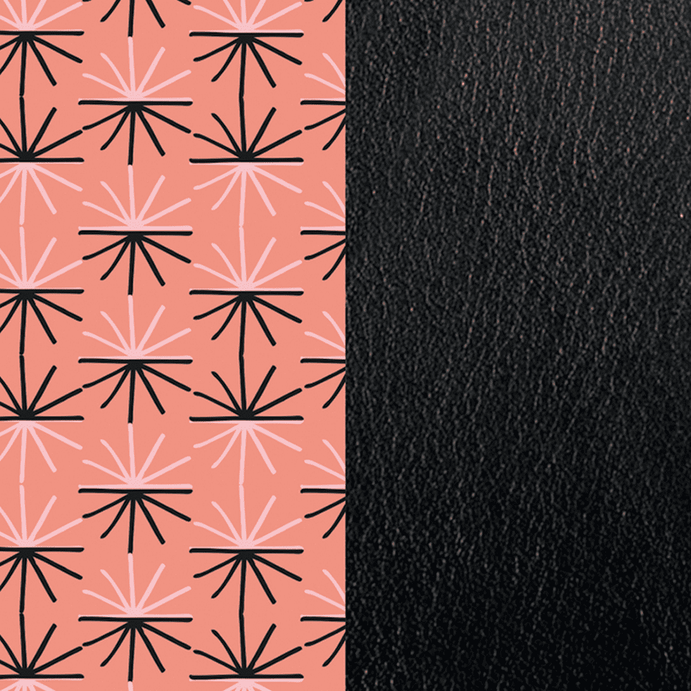Patterned leather, Eclat / Black image number 1