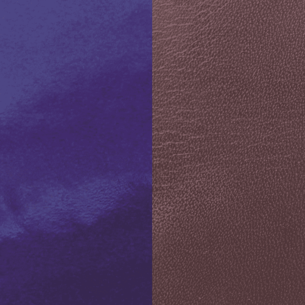 Leather insert, Plum / Patent Blue image number 1