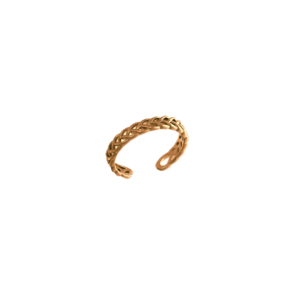 Petite Tresse Ring, Gold finish image number 1