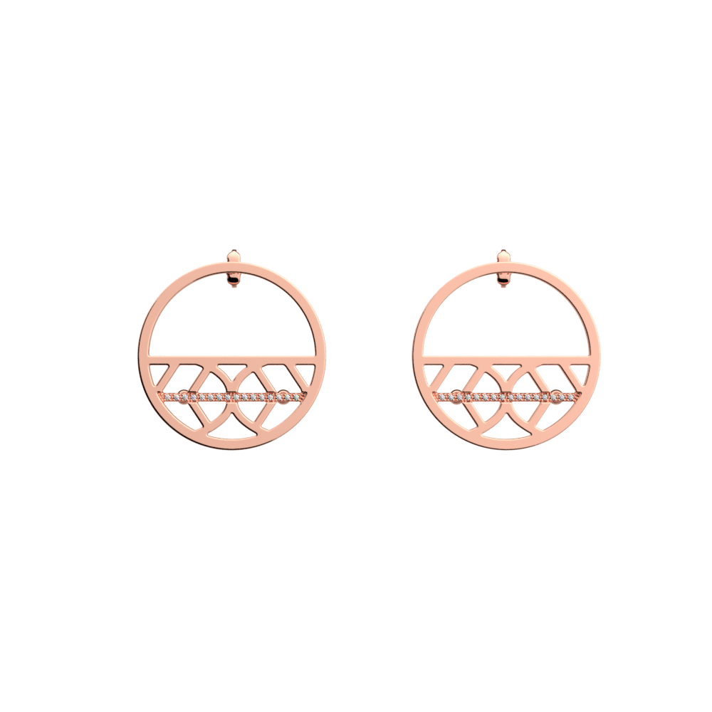 Faucon Hoop 30 mm Earrings, Rose gold finish image number 1