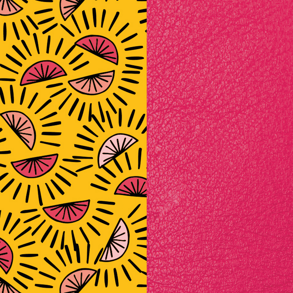 Patterned leather, Citrus / Fuchsia image number 1