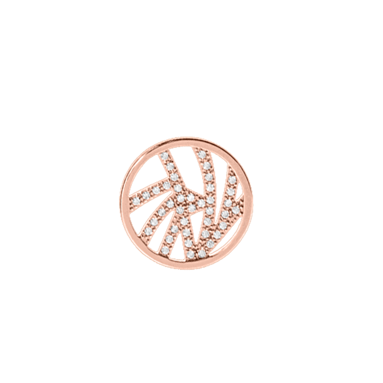Perroquet token Round 16 mm, Rose gold finish, cubic zirconia image number 1