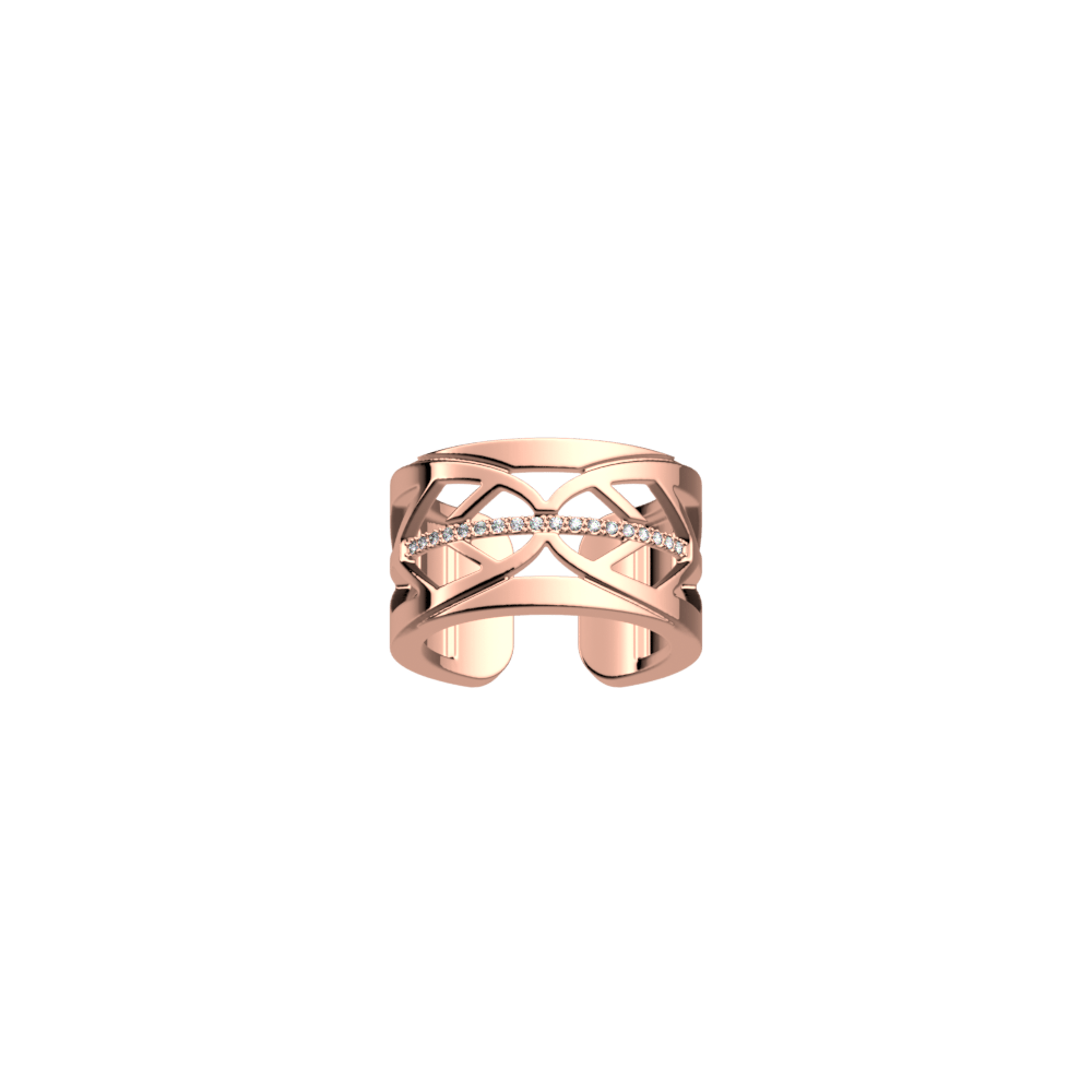 Faucon ring 12 mm, Rose gold finish image number 1
