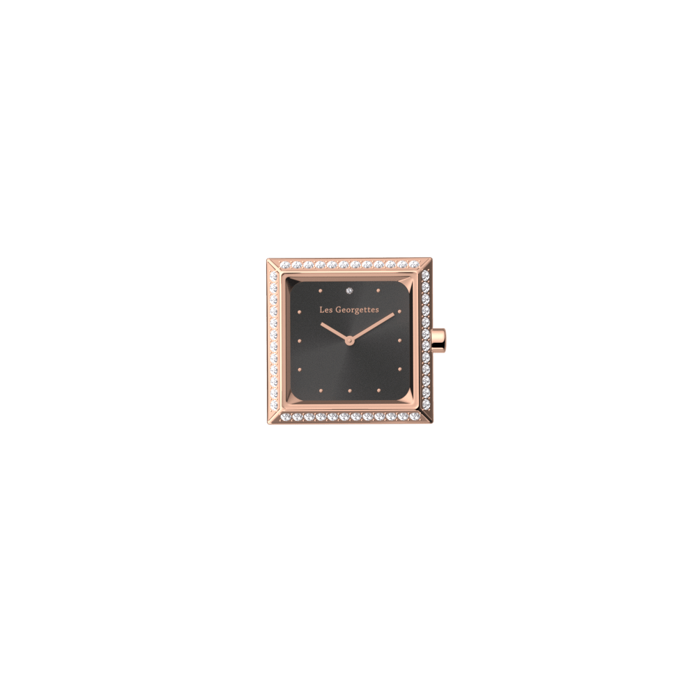 Watch case Absolue square Précieuse, Rose gold finish image number 1