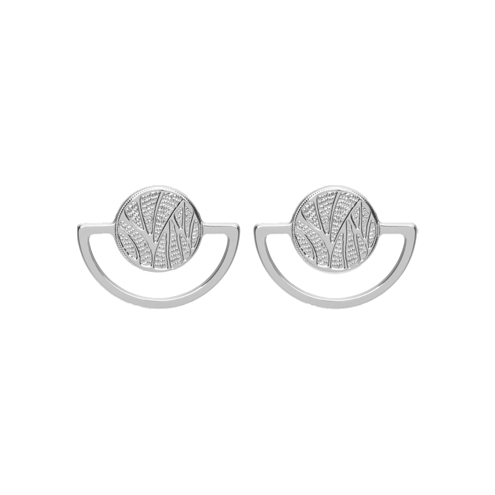 Perroquet Earrings, Silver finish image number 1